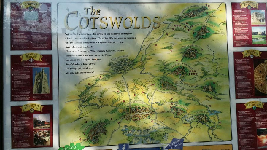 イギリス・コッツウォルズの町はおとぎの国! コッツウォルズ地図