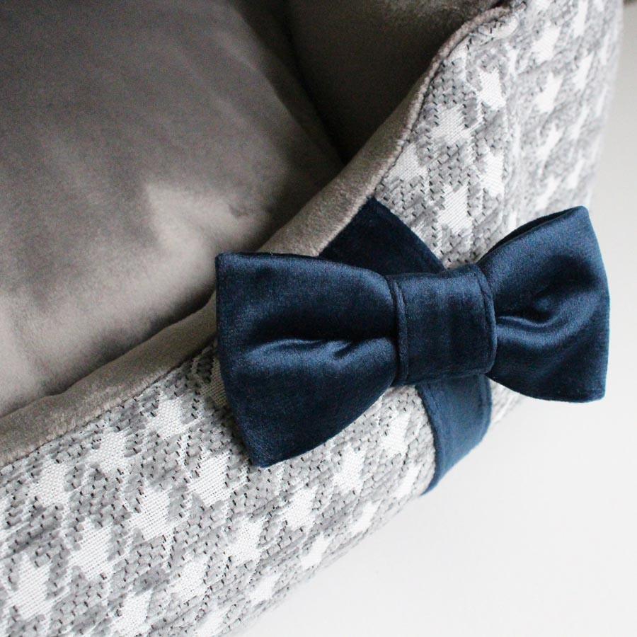 Bed Glamour grey リボン部分アップ(ベッドグラマー グレー・ピンク)