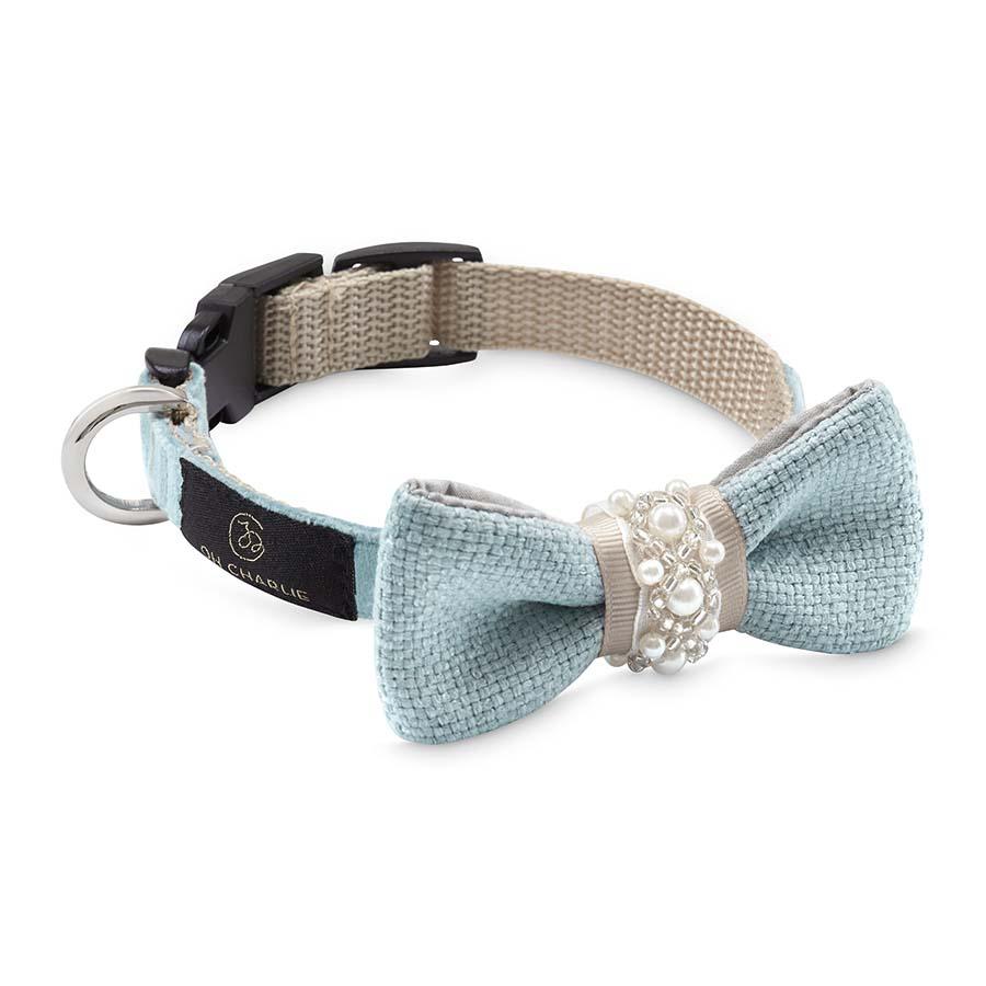Bow-tie Pearls blue(蝶ネクタイカラー パールブルー)