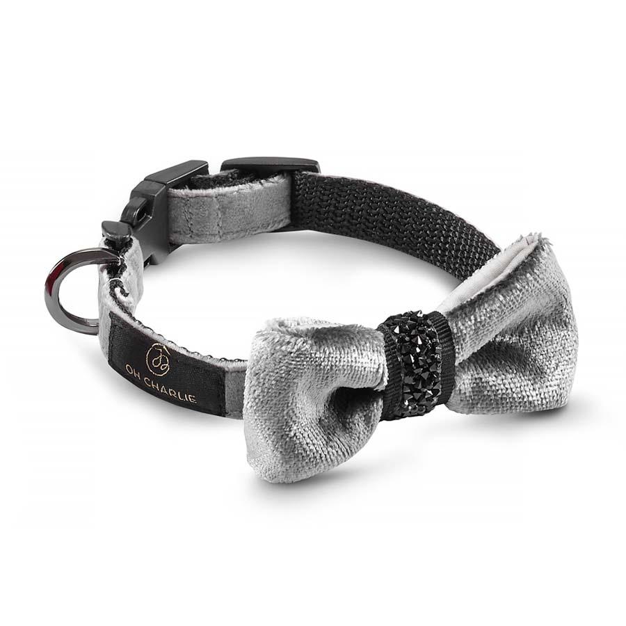 Bow-tie Shiny grey(蝶ネクタイカラー シャイニーグレー)1