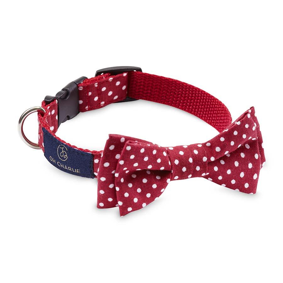 Bow-tie Street red(蝶ネクタイカラー ストリートレッド (ドット))