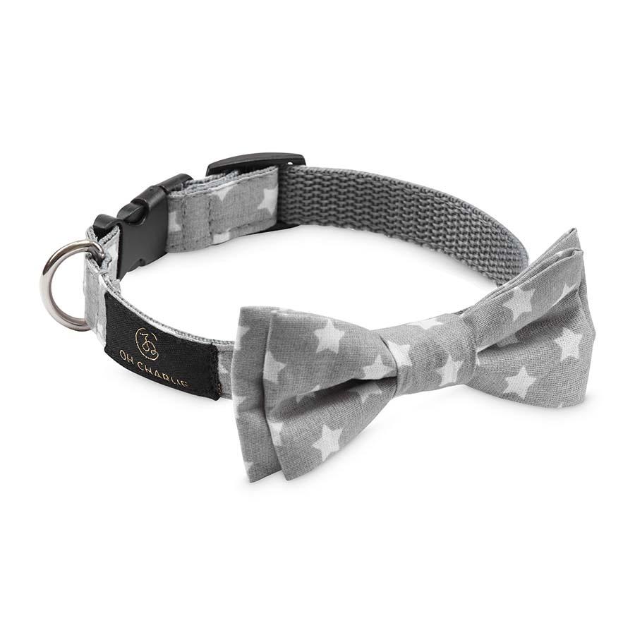 Bow-tie Street grey(蝶ネクタイカラー ストリートグレー(スター))