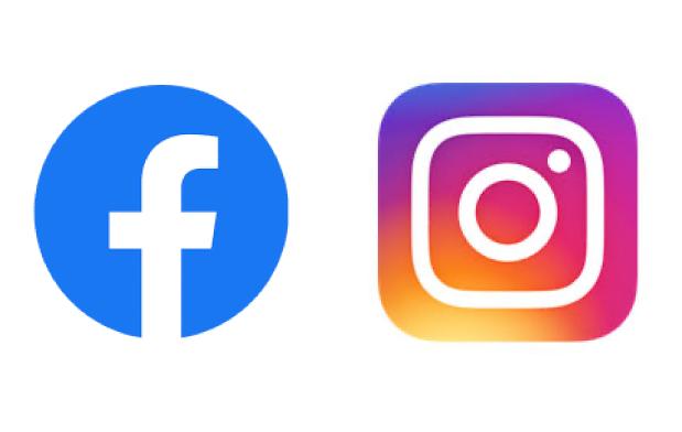 facebookロゴ、インスタグラムロゴ